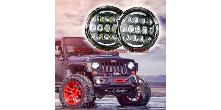 MXSHL96 Tech Hardy Round CREE LED Projector Headlights for Mahindra Thar Jeep Wrangler