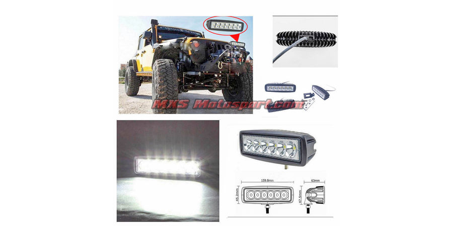 MXSORL12 High Performance CREE LED Flood Lamp Fog Lamp Bar for Car SUV & Bikes pair