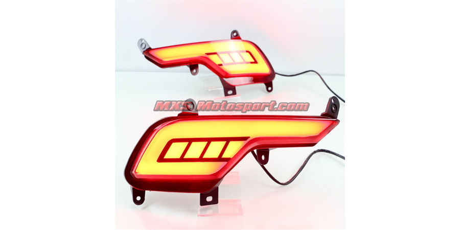 MXSTL100 Rear Bumper Reflector DRL LED Tail Lights New Version Hyundai Santa Fe 2016-2017