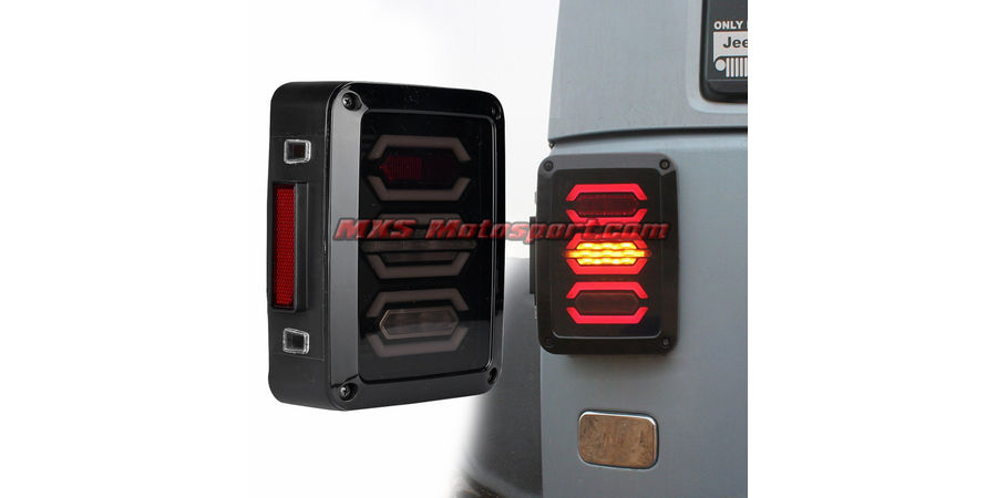 Jeep Wrangler Hid Headlights mxstl104 monster led tail lights mahindra thar jeep ...