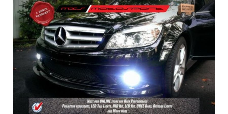 MXS Motosport Mercedes C Class Fog Lamp HID KIT with 6 Months* Warranty