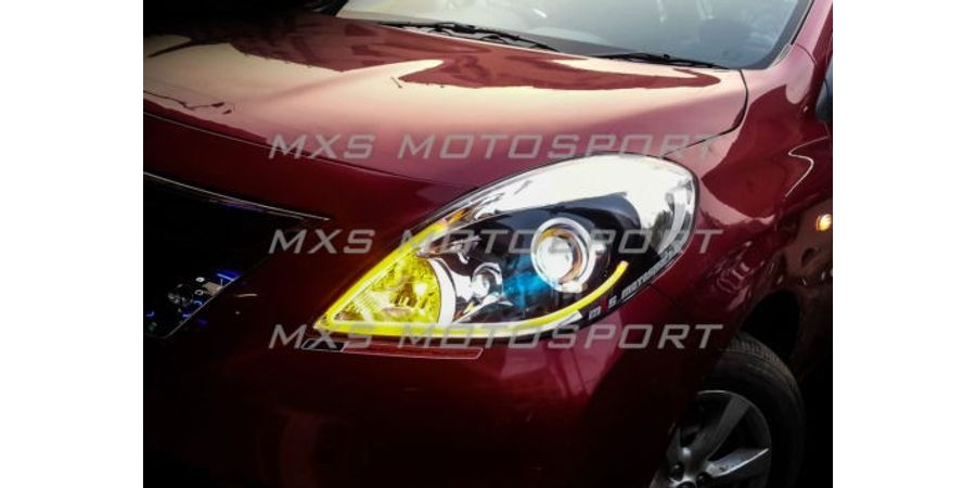 MXS1897 Audi-Style White-Amber DRL Daytime Running Light for Nissan Sunny