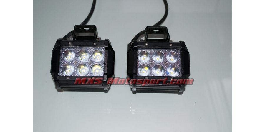 "MXSORL04 MXS Motosport High Performance Cree LED Flood Lamp Fog Lamp 4"" Bar for Off road"