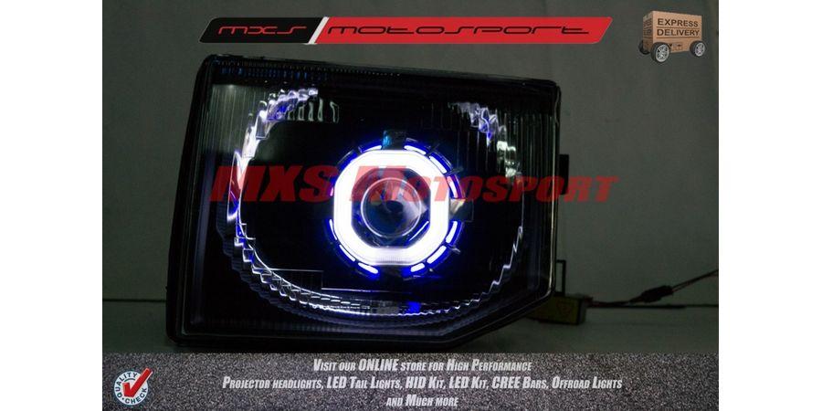 MXSHL70 Mitsubishi Pajero Projector Headlights HID Square Robotic Angle Eye