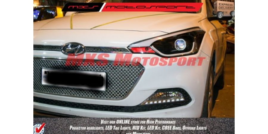 MXSHL149 Square Projector Headlight With DRL System Hyundai i20 Elite