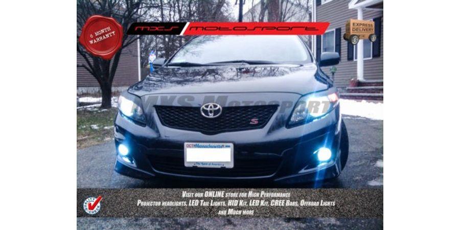 MXS Motosport Toyota Corolla Fog Lamp HID KIT with 6 Months* Warranty