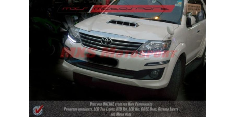 MXS1883 Audi-Style White DRL Daytime Running Light For Toyota Fortuner
