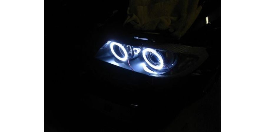 MXS1944 White 2x100mm Car Bike motorcycle COB Led Angel Eyes Halo Ring Light 12V