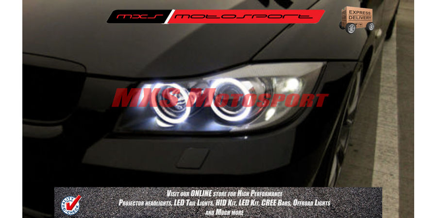 MXS1942 White 2x120mm Car Bike motorcycle COB Led Angel Eyes Halo Ring Light 12V