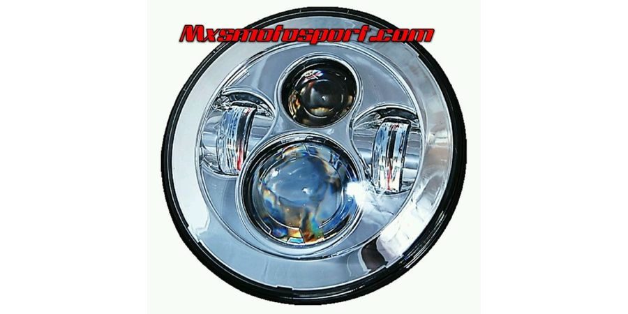 MXSHL97 Tech Hardy Chrome Round CREE LED Projector Headlights for Mahindra Thar Jeep