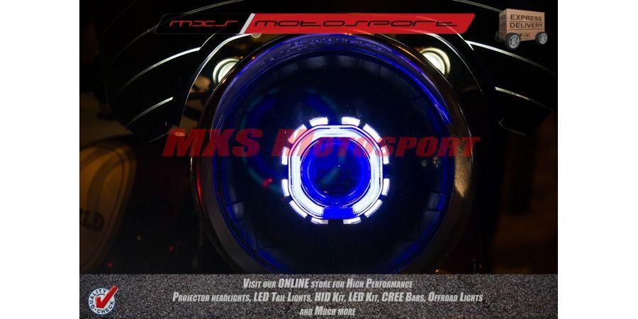 MXSHL129 Royal Enfield Bullet Classic 350 & 500 Headlight Robotic Bi Xenon HID Projector