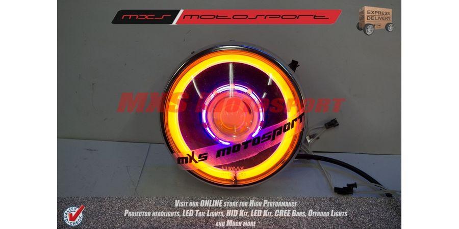 MXSHL109 Royal Enfield Bullet Classic 350-500 Headlight Projector-Day Running Light
