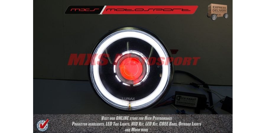 MXSHL120 Royal Enfield Bullet Classic 350-500 Headlight Projector-Day Running Light