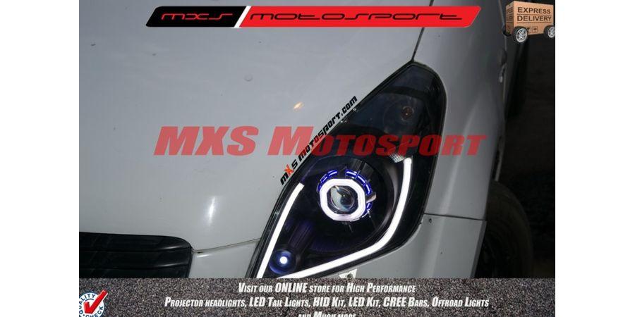 MXSHL02 Maruti Ritz audi style Day running light & Robotic eye Projector Headlight