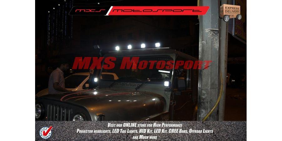 "MXSORL10 High Performance CREE LED Flood Lamp 4"" Fog Lamp Bar for Car SUV & Bikes Set of 4"