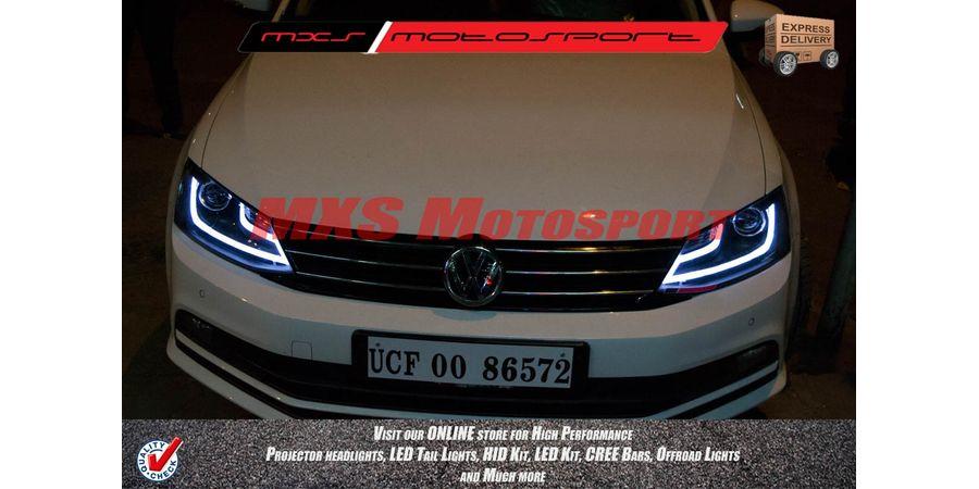 MXSHL27 Volkswagen Jetta Headlights audi style Day running light & Projector