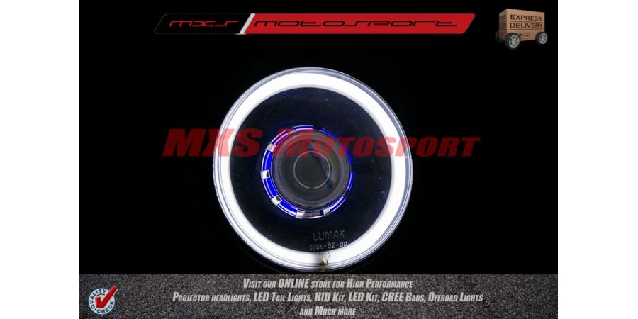 MXSHL106 Royal Enfield Bullet Classic 350-500 Headlight Projector-Day Running Light