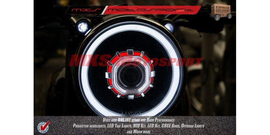 MXSHL130 Royal Enfield Bullet Electra 350 Headlight Robotic Bi Xenon HID Projector, DRL's