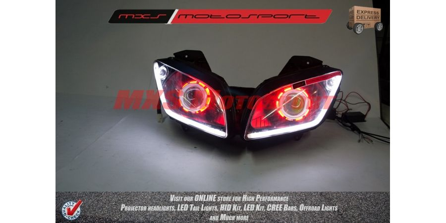 MXSHL146 Robtici Eye Projector Headlight Yamaha R15 v2