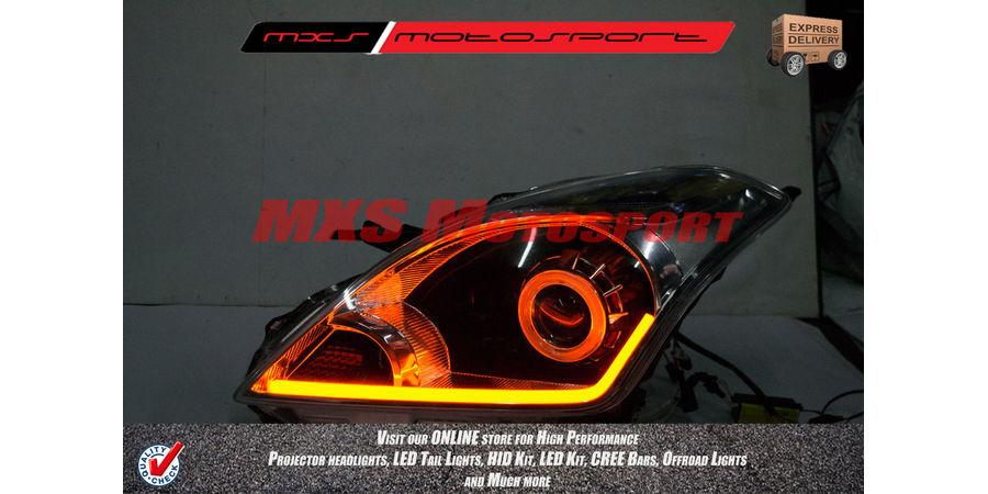 MXS2293 Audi-Style White-Amber DRL Daytime Running Light for Maruti Suzuki Baleno