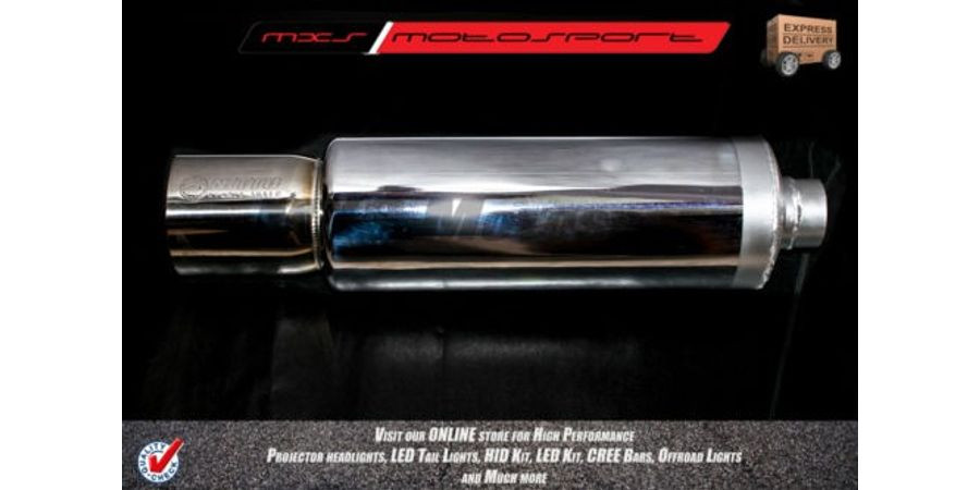 MXS2064 Nitto Exhaust Muffler Silencer, Turbo Spiral Fllow Super Car Like sound