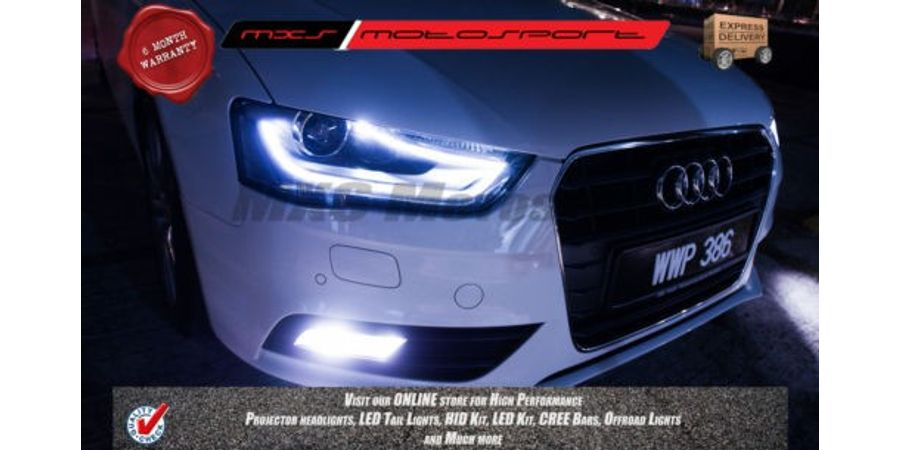 MXS Motosport Audi A4 Fog Lamp HID KIT with 6 Months* Warranty