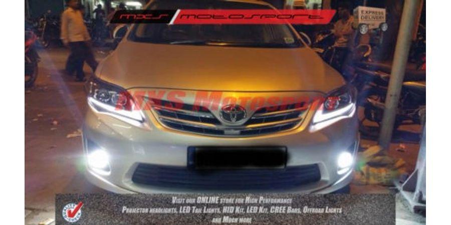 MXSHL82 Toyota Corolla Altis Projector Headlights Day Running Light