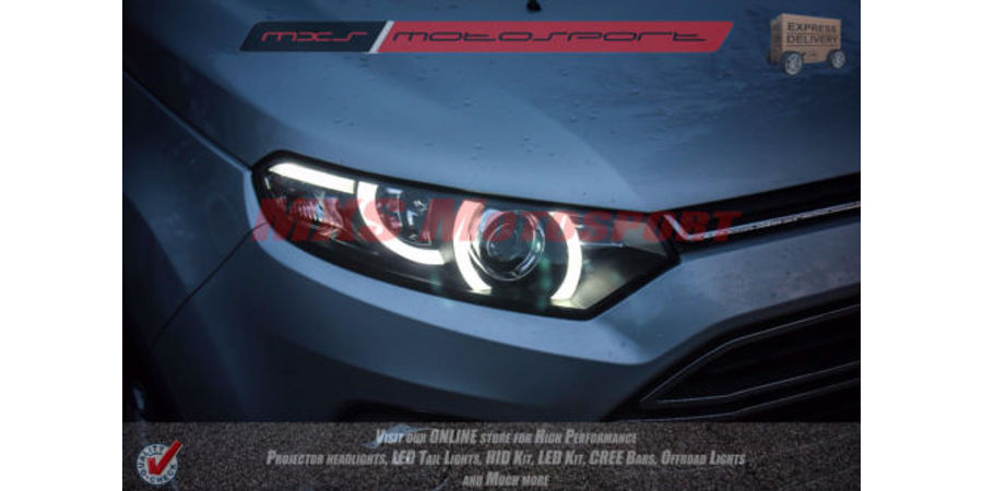 MXSHL159 Ford EcoSport Projector Headlights Evoque Style Day Time lights