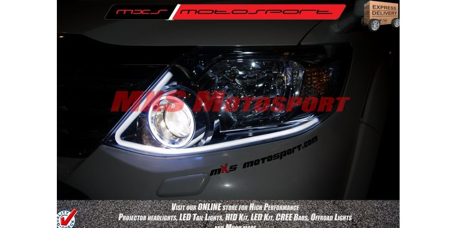 MXS1888 Audi-Style White DRL Daytime Running Light For Toyota Fortuner With Amber Turn Signal Mode