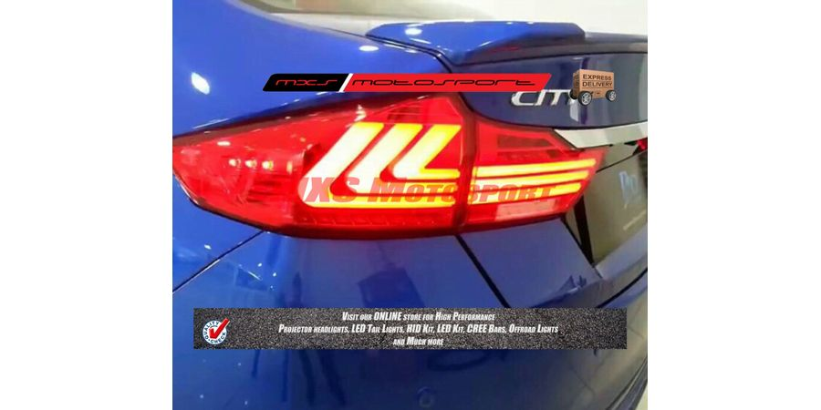 MXSTL14 LED Tail Lights for New Honda City i-Dtec Pair