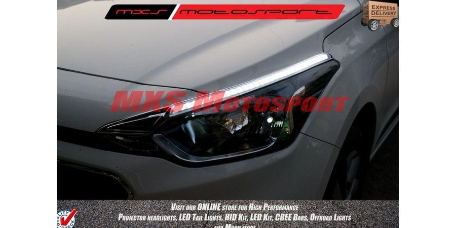 MXS2217 Audi-Style White DRL Daytime Running Light For Hyundai i20 Elite