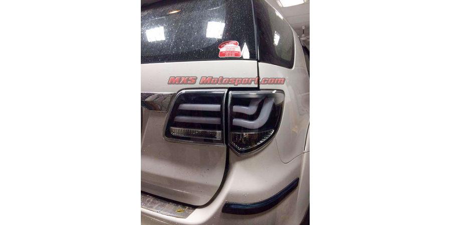 MXSTL77 Led Tail Lights Toyota Fortuner Smoked Black