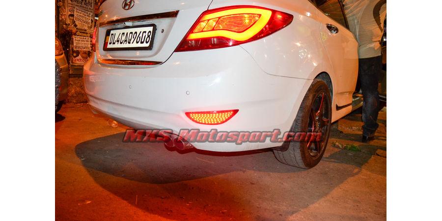 MXSTL78 Rear Bumper Reflector LED Tail Lights Hyundai Verna Fluidic