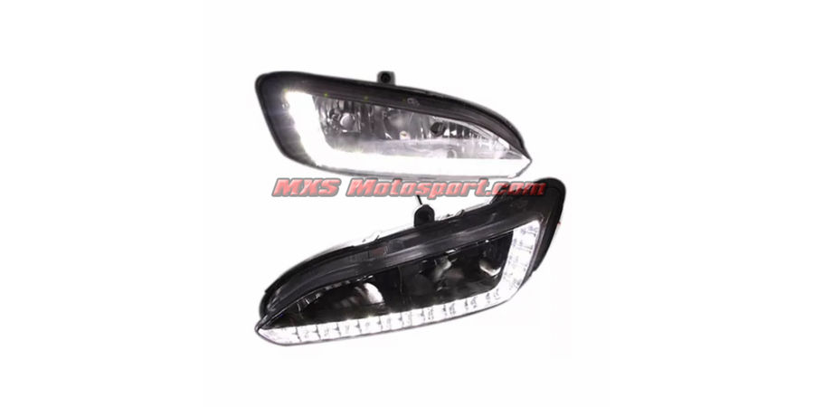 MXS2348 LED Fog Lamps Day Time Running Light Hyundai Santa Fe 2015