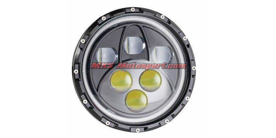MXSHL413 LED Monster Projector Headlight for Royal Enfield Bullet