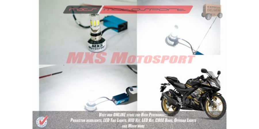 MXS2149 LED Headlight Bulb Yamaha YZF R15 V2 White HIGH LOW Beam like HID Pair