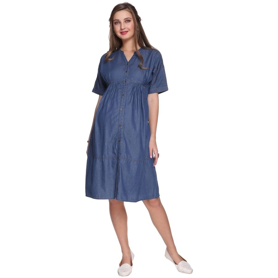 3576f4496ad Blue Maternity Dress For Pictures