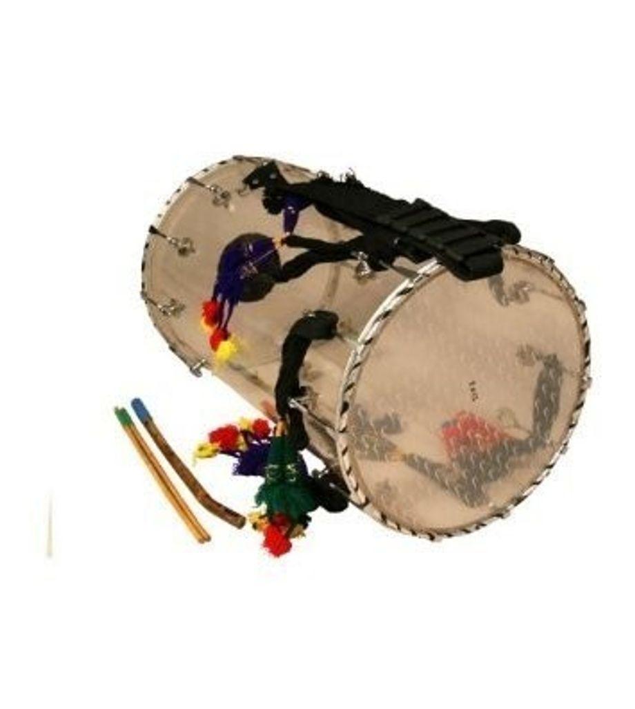 Transparent Fiber Dhol Free Padded Carry Bag