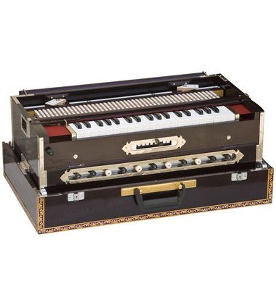 SG Musical Harmonium - 3 Reeds, 9 Scale Canger, Dark ...