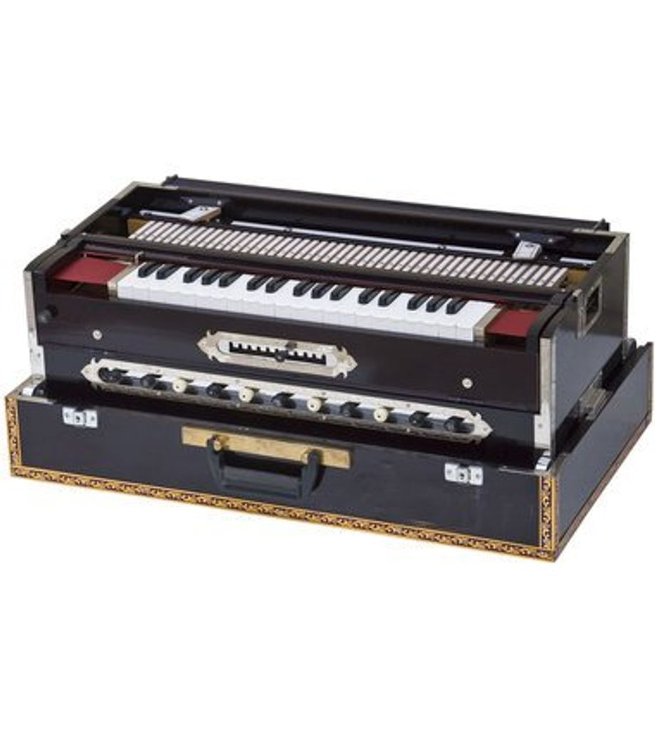 SG Musical Harmonium - 3 Reeds, 11 Scale Changer, Dark Mahogany Color
