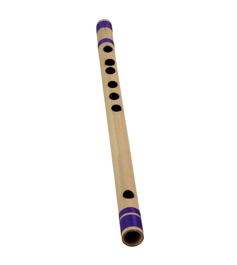 SG Musical Professional Bamboo Transverse Flute Indian Bansuri (B Tune) Woodwind Musical Instrument 10 Inches