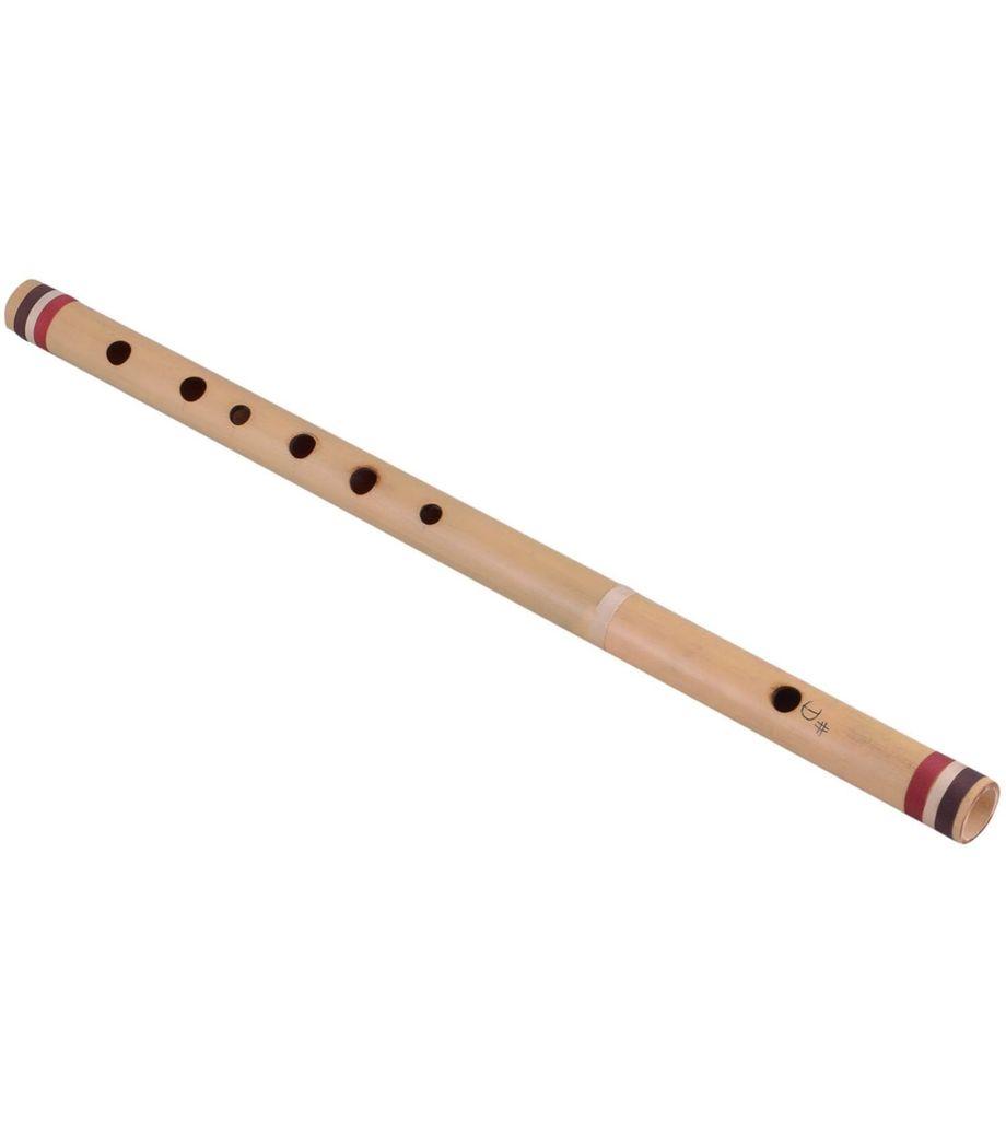 SG Musical Scale D # Natural Medium 30 cm, Finest Indian Bansuri, Bamboo Flute