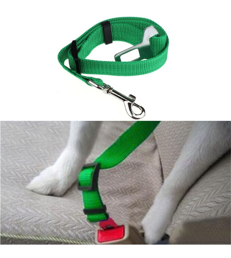 Seatbelt for Small Pet Cat Dog Safety in Cars (Green)
