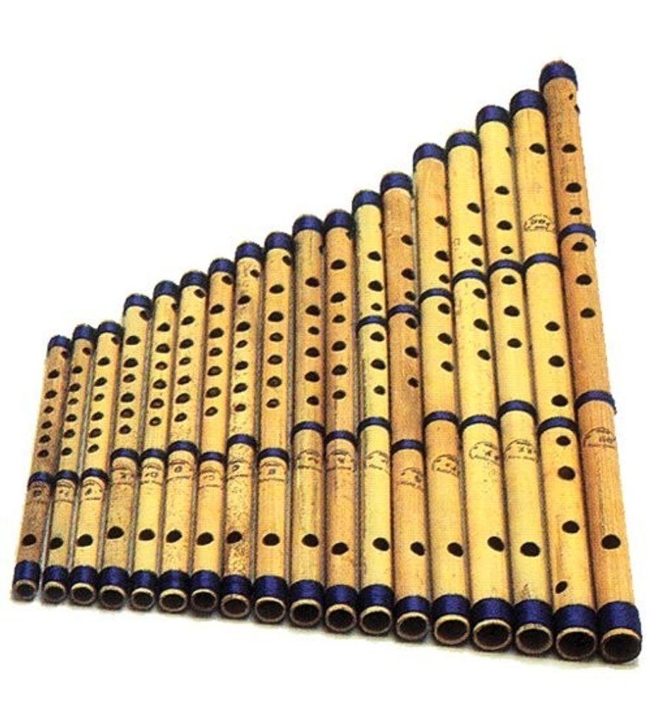 SG Musical Set of 18 Pcs  Bansuri - Indian Bamboo Flute Set