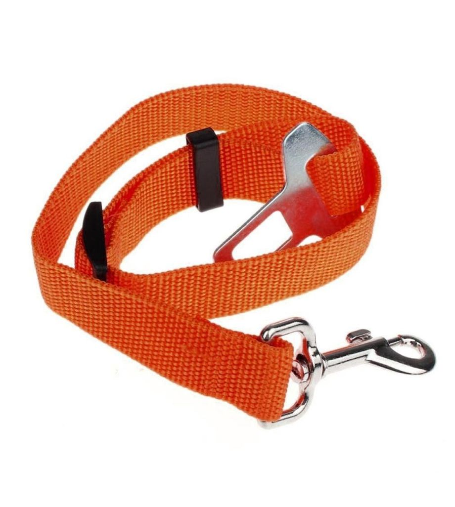 Seatbelt for Small Pet Cat Dog Safety in Cars (Orange)