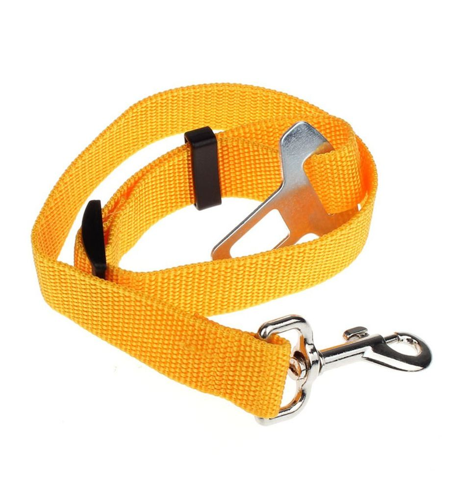 Seatbelt for Small Pet Cat Dog Safety in Cars (Yellow)