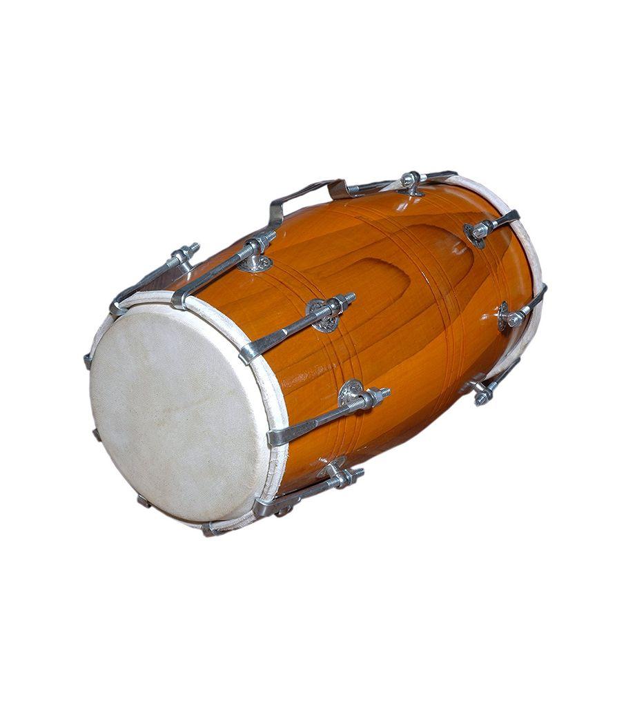 01 sg musical handmade wood dholak indian folk musical instrument