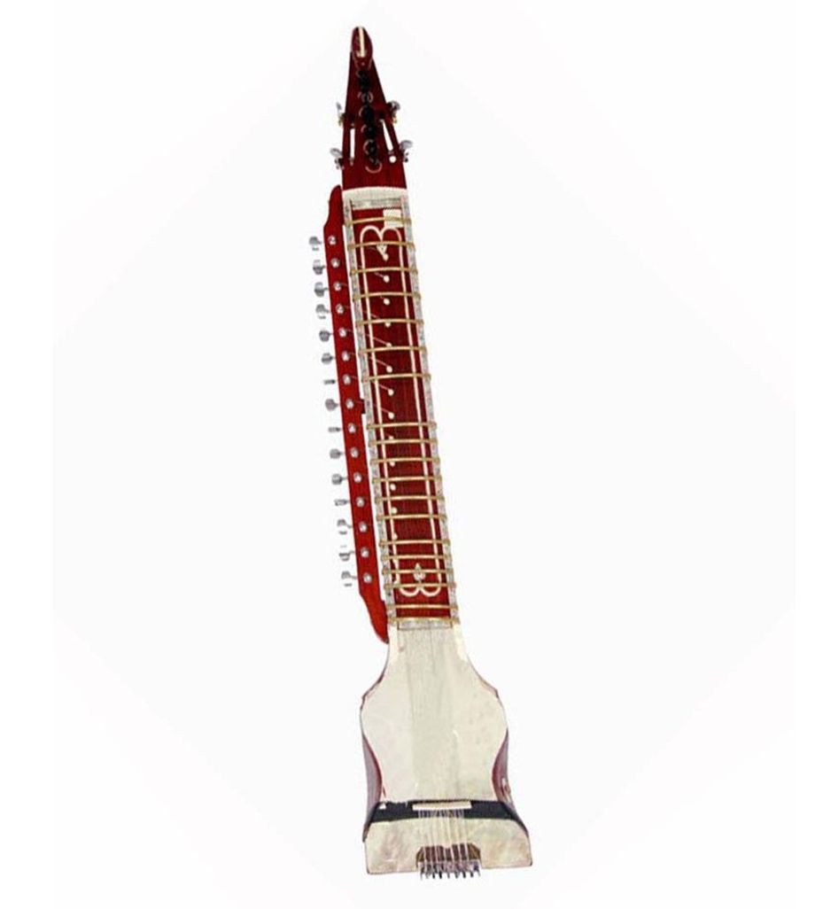 Sg Musical Indian Stringed Instrument Peacock- End Dilruba