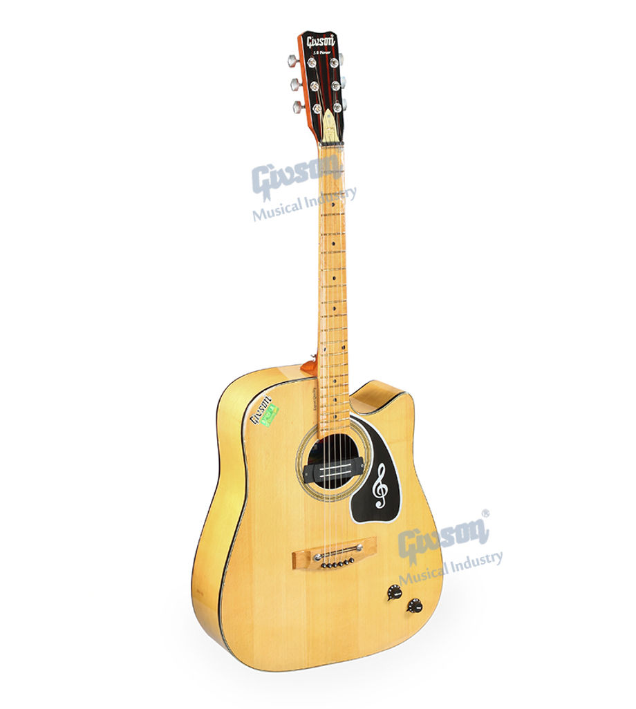 S.B. Pioneer (Cut-A-Way, Beech Wood with Pick Up) 6 String Accoustic Spanish guitar (Round Hole)