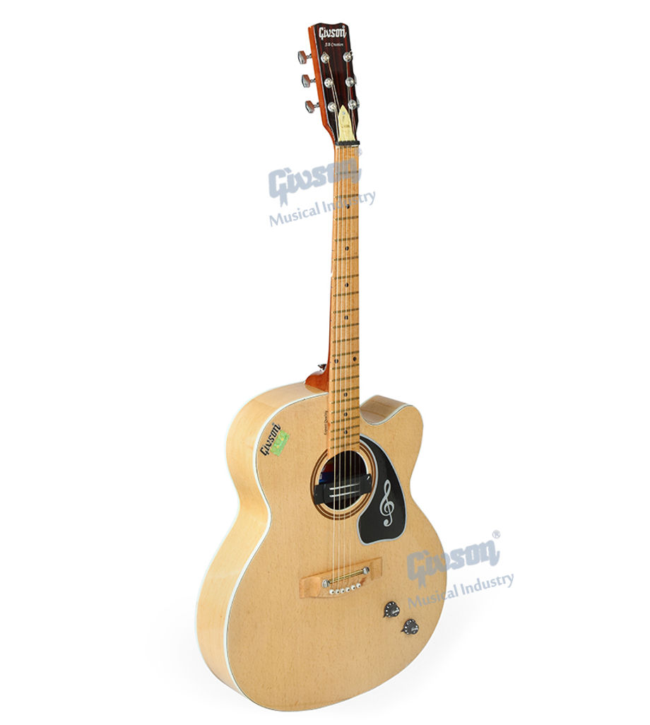 S.B. Creation (Cut-A-Way, Beech Wood with Pick Up) 6 String Accoustic Spanish guitar (Round Hole)